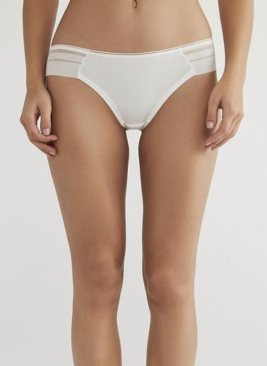 Penti Siyah Limpo Basic Brazilian Külot Beyaz